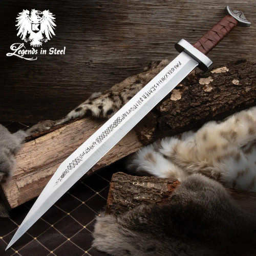 Legends In Steel Viking Seax Sword And Scabbard