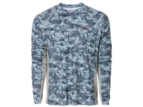Grunden Solstrale Long Sleeve Crew Shirt (Color: Refraction Camo Dark Slate)