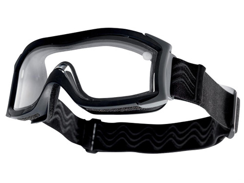 Bolle Safety X1000 Duo Ballistic Tactical Goggles (Color: Clear Lens / Black)