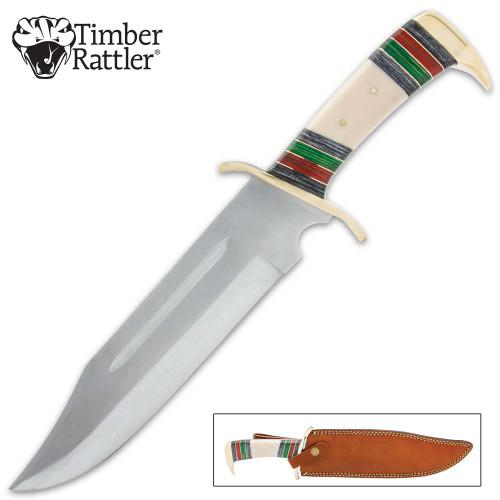 Timber Rattler Arizona Bowie Knife And Sheath