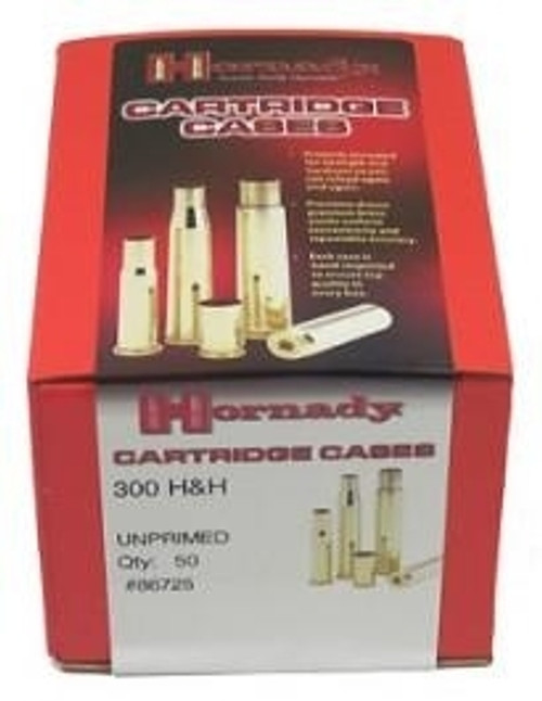 300 H&H Unprimed Brass Per/50