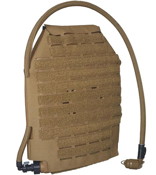 Qore Performance IcePlate MOLLE Sleeve Combo for IcePlate Curve Hydration Pack (Color: Coyote Brown)