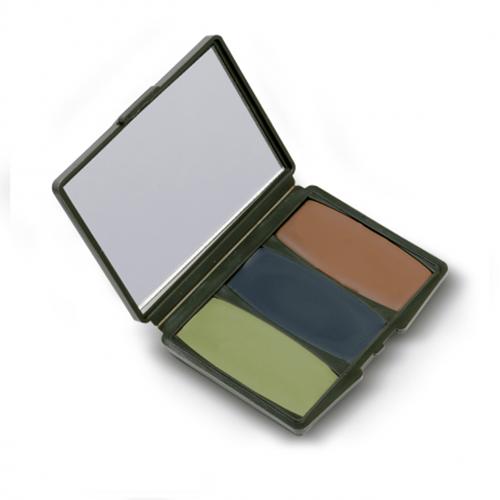 3 Colour Woodland Camo-Compac Make-Up Kit