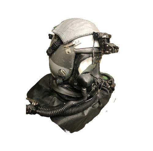 U.S. Air Forces Helicopter Flight Helmet HGU 55/P w/NVG Mount & Internal TEA Comms w/ N&Z Aviation Pilot Gas Mask
