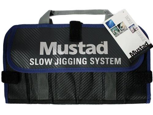 Mustad Jig Bag / Binder (Color: Dark Grey & Blue / Small)