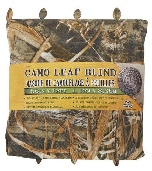 "Advantage Max-5 Camo Leaf Blind 56""X12'"