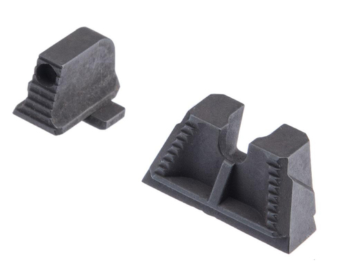 Strike Industries Strike Iron Front & Rear Sights for SIG Sauer P320 (Model: Suppressor Height)