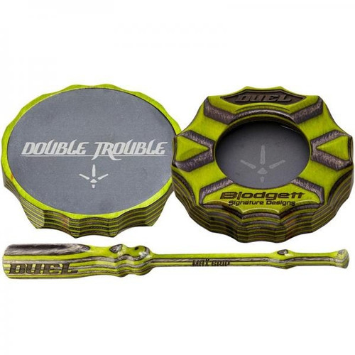 Double Trouble Friction Pot Call/Green & Gray Surface