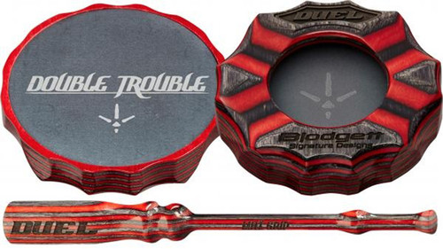 Double Trouble Friction Pot Call/Red & Gray Surface