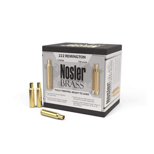 Nosler 222 Rem Brass 100 Per Box