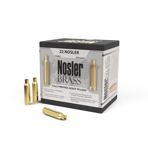 22 Nosler Brass 100 Per Box