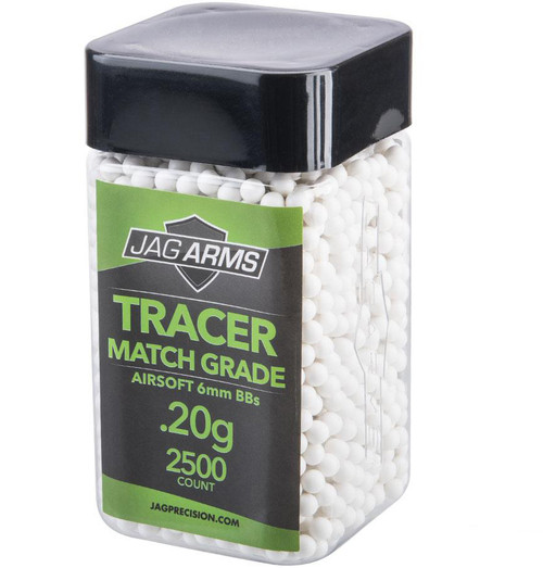 JAG Arms Tracer Match Grade 6mm Airsoft BBs (Green)
