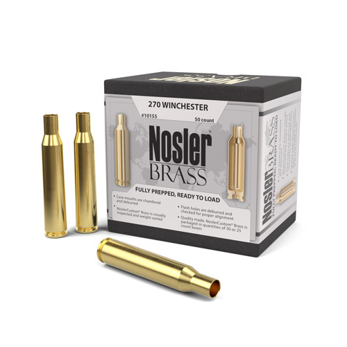 Nosler 270 Win Brass 50 Per Box