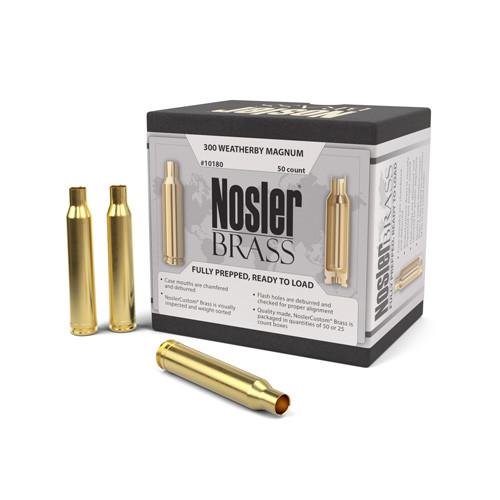 Nosler 300 Wby Mag Brass 50 Per Box