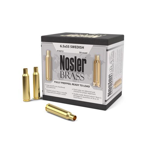 Nosler 6.5X55 Swed Brass 50 Per Box