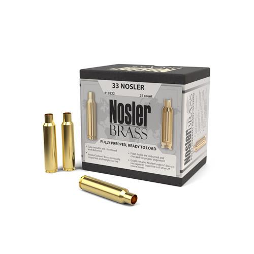 33 Nosler Custom Brass 25 Per Box