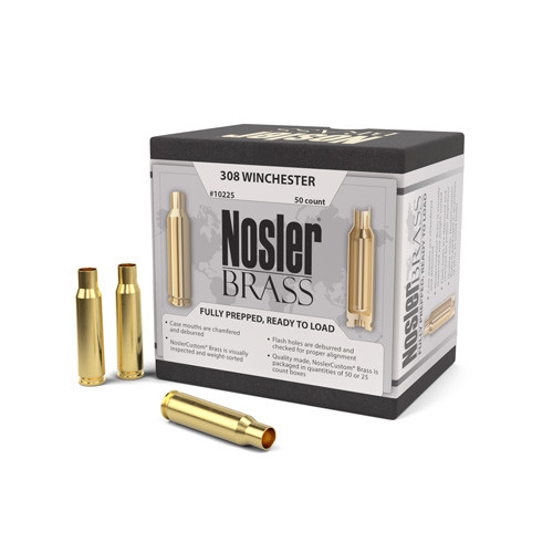Nosler 308 Win Brass 50 Per Box