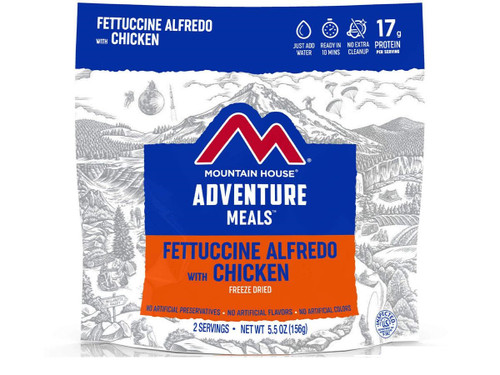 Mountain House Freeze Dried Camping Food (Fettuccine Alfredo with Chicken)