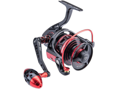 Jigging Master VIP Limited Edition Spinning Fishing Reel (Model: 5000H / 7000S / Black / Red)