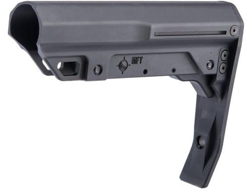 Mission First Tactical Battlelink Minimalist Aluminum Stock for MilSpec AR-15 Buffer Tubes (Color: Black)