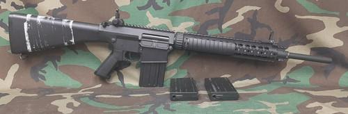 A&K Full Metal SR-25 Airsoft AEG Rifle (Model: Fixed Stock) - BONEYARD