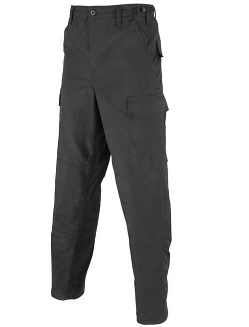 Tru-Spec 65/35 Poly Cotton Rip-Stop BDU Pants (Color: Black / Small-Regular)