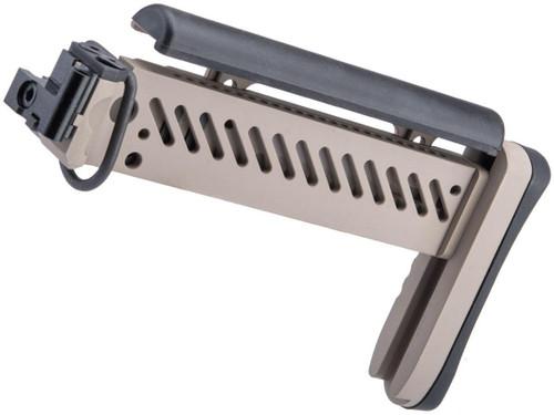 Avengers PT-1 Gen2 Side Folding Stock for E&L AK Series Airsoft Rifles (Color: Tan)
