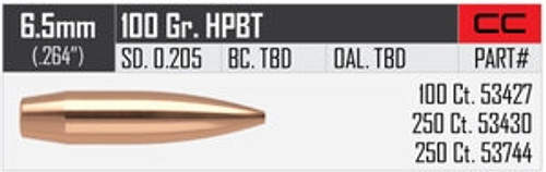 .264 Dia 100Gr Hpbt Custom Competition