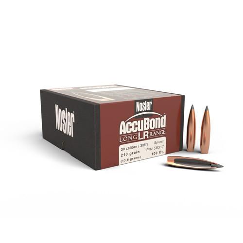 .308 Dia 210Gr Accubond Long Range 100 Per Box