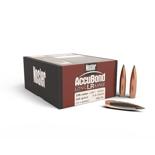 .338 Dia 265Gr Accubond Long Range 100 Per Box