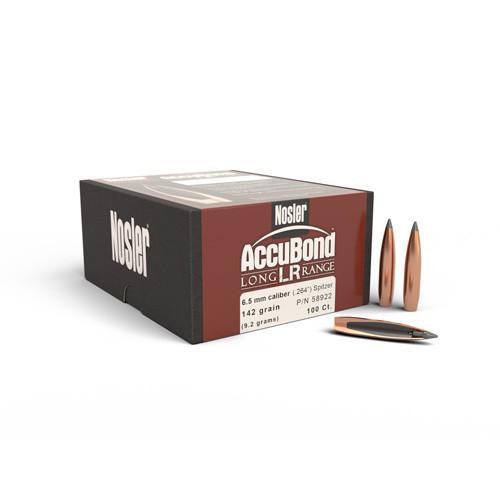 .264 Dia 142Gr Accubond Long Range 100 Per/Box