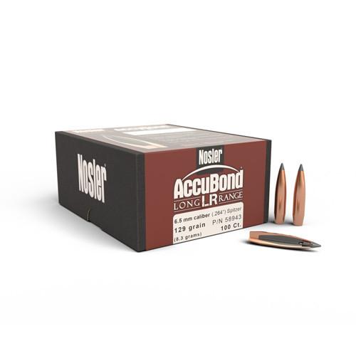 .264 Dia 129Gr Accubond Long Range 100 Per Box