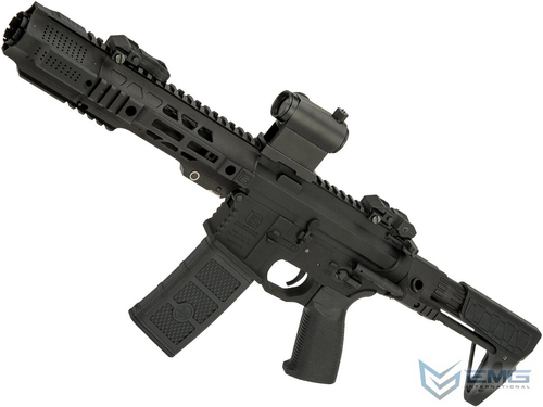EMG SAI GRY Gen. 2 Forge Style Receiver AEG Training Rifle w/ JailBrake Muzzle and GATE ASTER Programmable MOSFET (Model: PDW / Black / Non-ITAR Furniture)