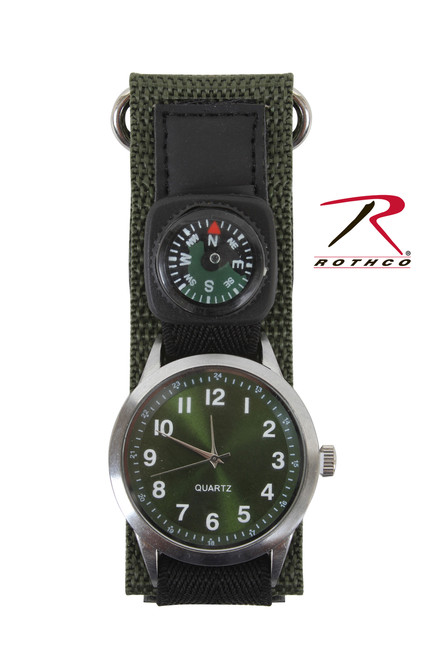 Watch With Compass - Olive Drab