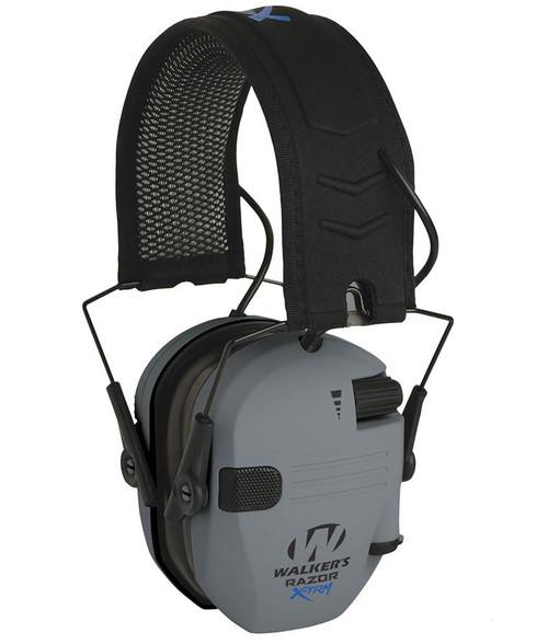 Walker's Razor Digital X-TRM Bluetooth Ear Muff w/ Cooling Pads & Moisture Wicking Headband (Color Grey)