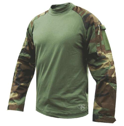 Tru-Spec Tactical Response Uniform Combat Shirt (Color: Woodland)