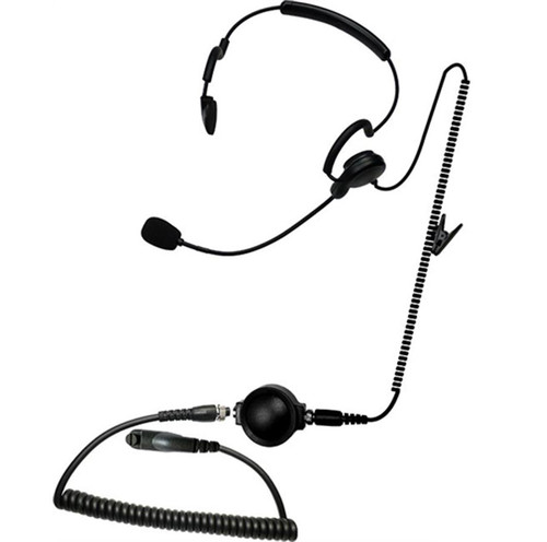 """Code Red Headsets """"Close Quarters Battle"""" w/ Boom Microphone Headset & Waterproof PTT (Connector: Kenwood 2 Pin / Baofeng)"""