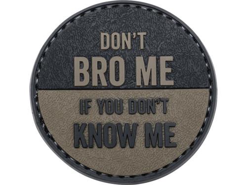 "5ive Star Gear ""Don't Bro Me"" PVC Morale Patch"