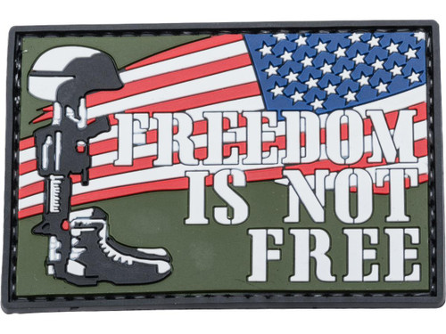 """5ive Star Gear """"Freedom Is Not Free"""" PVC Morale Patch"""