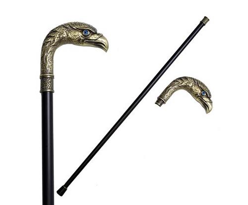 Brass Finish Eagle Head Luxury Cane Staff