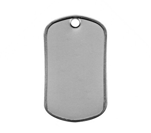 Dog Tag - Stainless Steel Matte