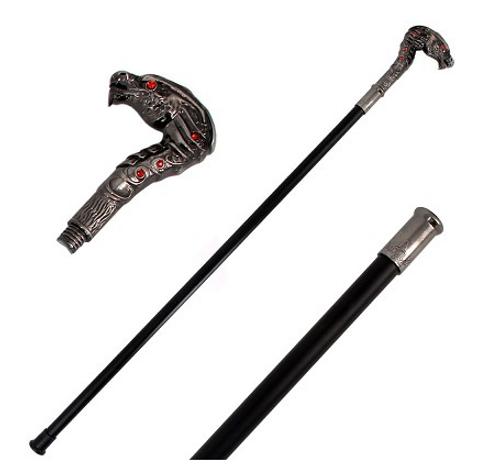 Dragon Wild Fighting Walking Cane Staff Steel Shaft Stick