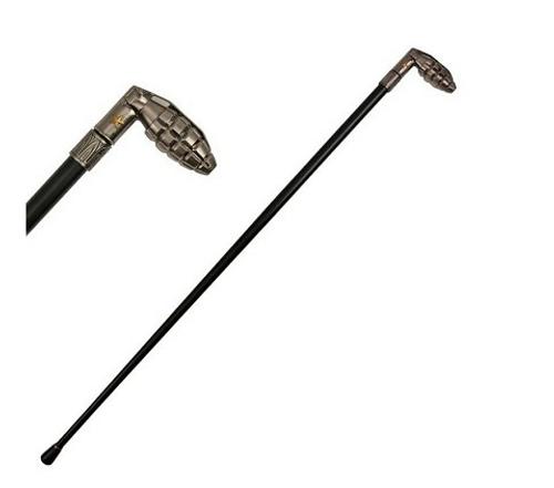 Grenade Style Cane Gentleman's Walking Stick Cane