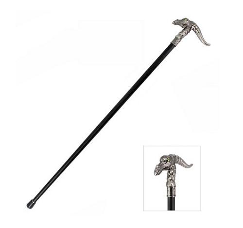 Green Eyed Dragon Gentleman's Walking Stick Cane