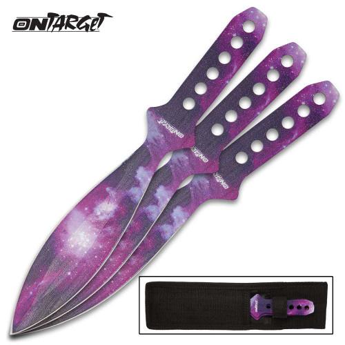 On Target Galaxy Throwing Knife Set w/Sheath