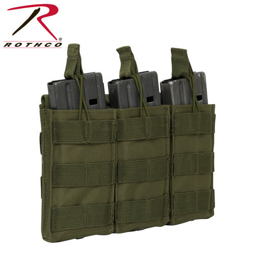Rothco MOLLE Open Top Triple Mag Pouch - Olive Drab