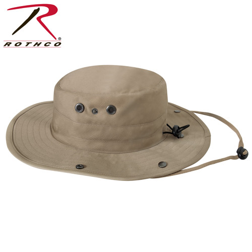 Rothco Adjustable Boonie Hat w/Neck Cover - Khaki