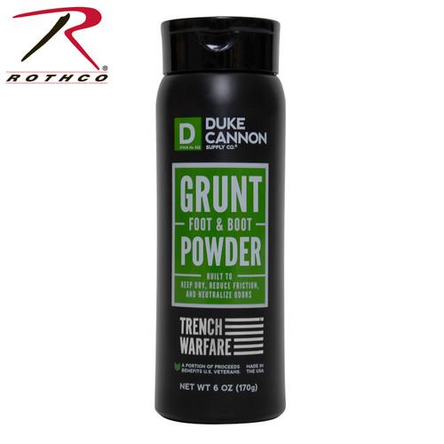Duke Cannon Grunt Foot & Boot Powder, 6 Oz