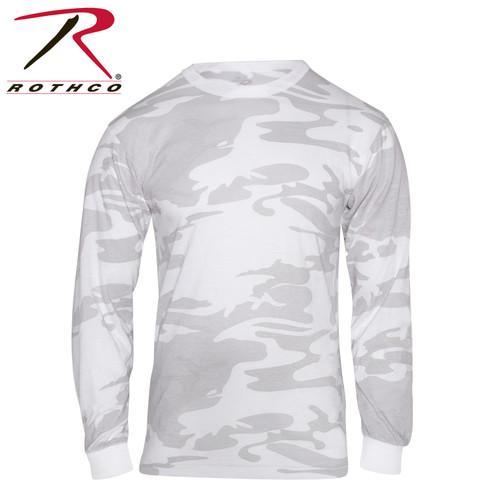 Rothco Long Sleeve Colored Camo T-Shirt - White Camo