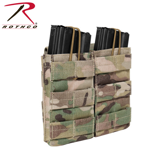 Rothco MOLLE Open Top Double Mag Pouch - Multicam